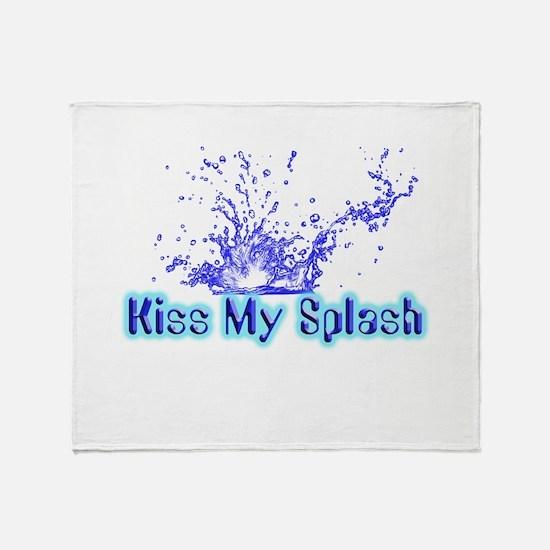 Kiss My Splash Throw Blanket