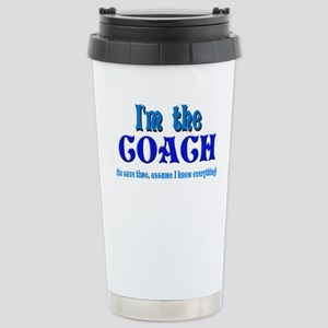 I'm the Coach -Blue Stainless Steel Travel Mug