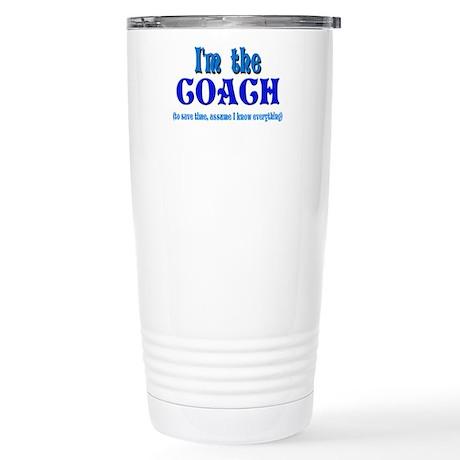 I'm the Coach -Blue Stainless Steel Travel Mug