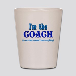 I'm the Coach -Blue Shot Glass