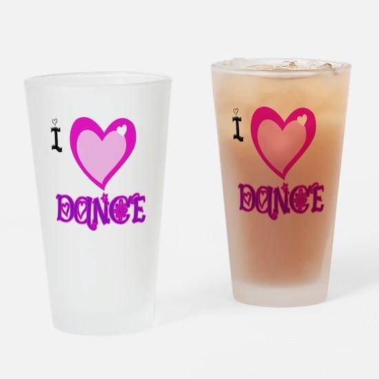 I Love Dance Drinking Glass