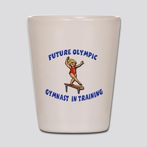Future Olympic Gymnast In Tra Shot Glass