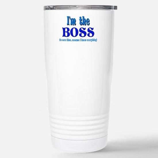 I'm the Boss- Blue Stainless Steel Travel Mug