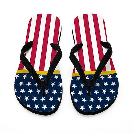 Patriotic July 4th Flip Flops