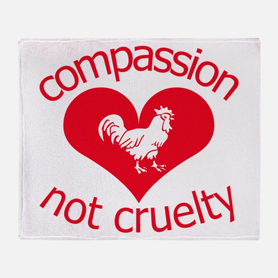 Compassion not cruelty Throw Blanket