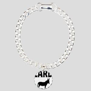 Lard Ass Donkey Charm Bracelet, One Charm