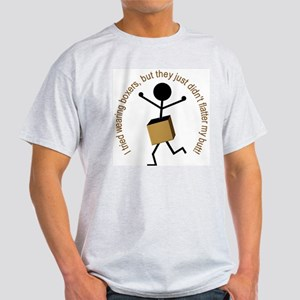 Boxers (Stick Figure) Ash Grey T-Shirt