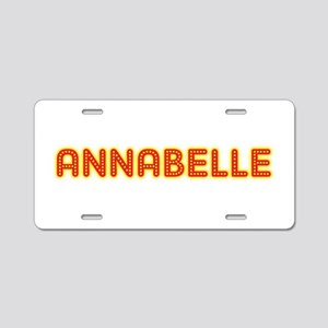Annabelle in Movie Lights Aluminum License Plate