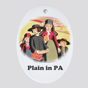 Plain in PA Ornament (Oval)