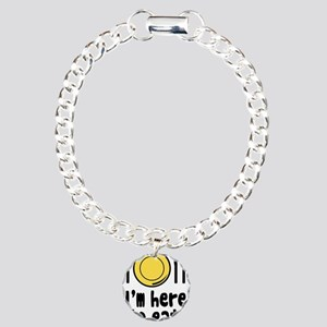 I'm Here to Eat Charm Bracelet, One Charm