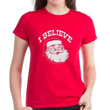 I Believe Santa Women's Dark T-Shirt