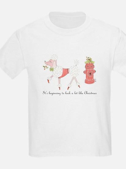 Christmas Poodle T-Shirt