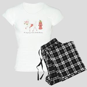 Christmas Poodle Women's Light Pajamas