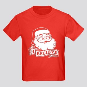 I Believe Santa Kids Dark T-Shirt