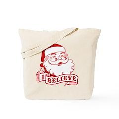 I Believe Santa Tote Bag