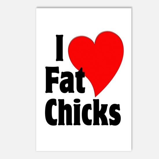 I Love Fat Chicks Chubby Chaser Postcards (Package