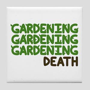 Gardening Tile Coaster
