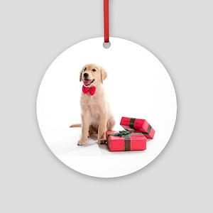 Christmas Golden Retriever Ornament (Round)