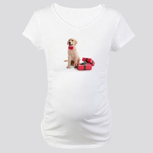 Christmas Golden Retriever Maternity T-Shirt