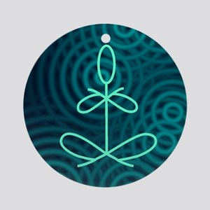 Yoga Glee Blue Spiral Ornament (Round)