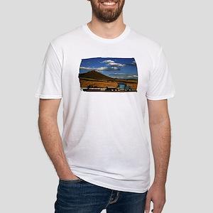 Shasta I-5 Trucking Fitted T-Shirt