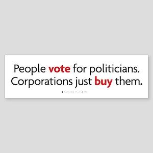 People Vote/Corporations Buy Bumper Sticker