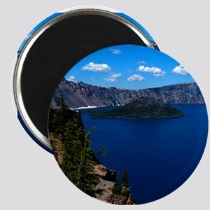 Crater Lake Wizard Island Magnet