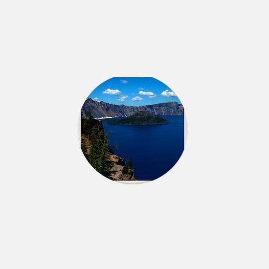 Crater Lake Wizard Island Mini Button