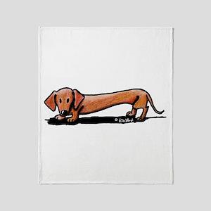 Lil' Red Dachsie Throw Blanket