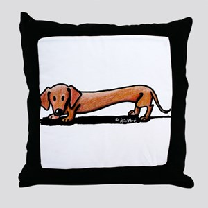 Lil' Red Dachsie Throw Pillow