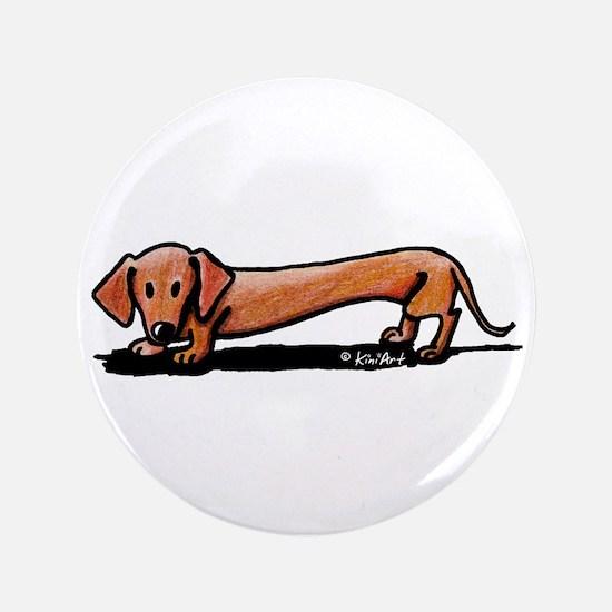 """Lil' Red Dachsie 3.5"""" Button"""