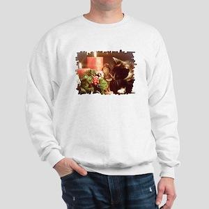 Christmas kitten Sweatshirt