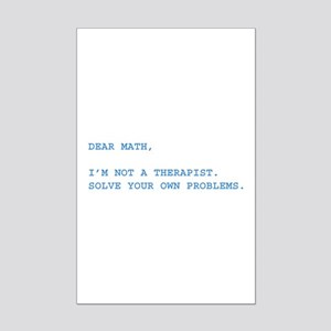 Dear Math Mini Poster Print