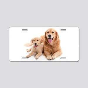 Golden retriever buddies Aluminum License Plate