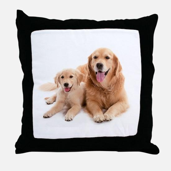 Golden retriever buddies Throw Pillow