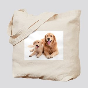Golden retriever buddies Tote Bag