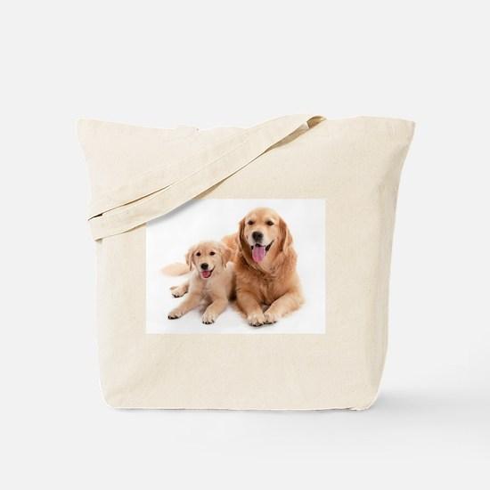 Golden retriever buddies Tote Bag