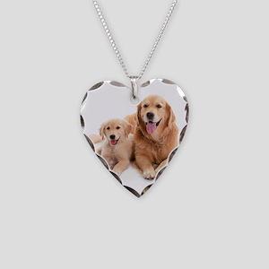 Golden retriever buddies Necklace Heart Charm