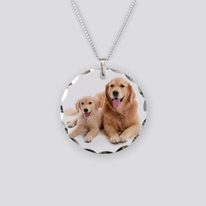 Golden retriever buddies Necklace Circle Charm