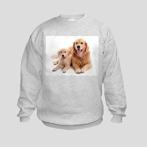 Golden retriever buddies Kids Sweatshirt