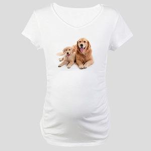 Golden retriever buddies Maternity T-Shirt