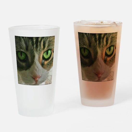 Kitty Eyes Drinking Glass
