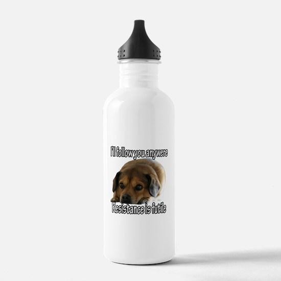 Resistance is Futile Puppy Water Bottle