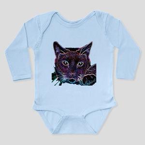 Glowing Cat Long Sleeve Infant Bodysuit