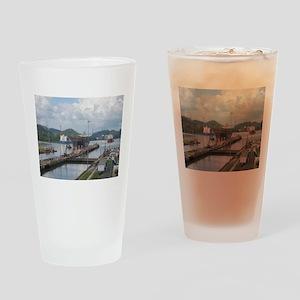 Panama: Miraflores Locks at t Drinking Glass