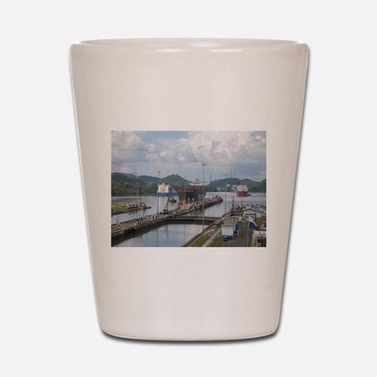 Panama: Miraflores Locks at t Shot Glass