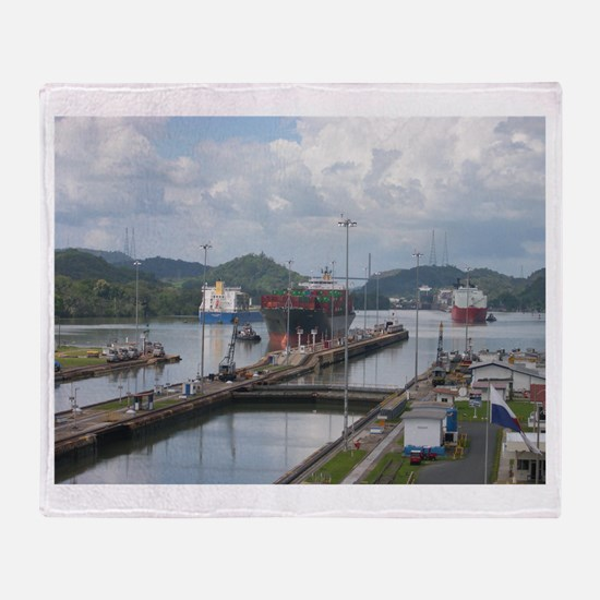 Panama: Miraflores Locks at t Throw Blanket