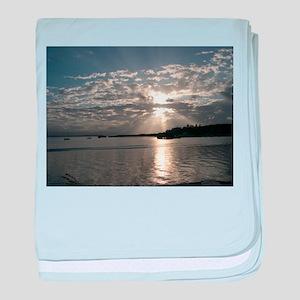 Bocas del Toro Sunset baby blanket