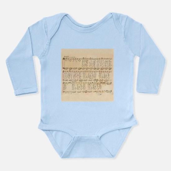 Silent Night Long Sleeve Infant Bodysuit