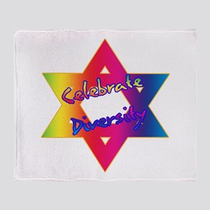 Celebrate Diversity Jewish St Throw Blanket